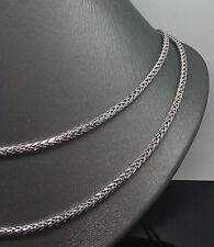 10K White Gold Palm Chain 3mm 38 Inches Long #A10B1