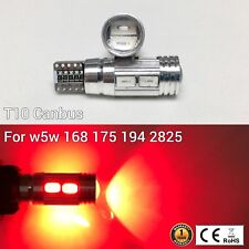 T10 W5W 194 168 2825 175 12961 Parking marker Light Red 10 SMD Canbus LED M1 MAR