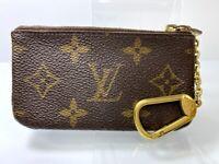 Auth Louis Vuitton Monogram Pochette Cles Coin Case M62650 LV B1023-8-6-2