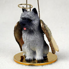 Cairn Terrier Ornament Angel Figurine Hand Painted Gray