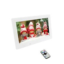 25.65cm (10.1') Digitaler Bilderrahmen, Fotorahmen in Weiß, Bilder, Video, Musik
