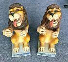 "LOWENBRAU BEER LION STATUE BOTTLE DISPLAY HOLDER BAR DECOR W GERMANY VTG 13""-EUC"