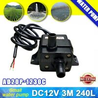 DC 12V Micro Submersible Brushless Water Pump Aquarium Fountain Pond Pump 240L/H