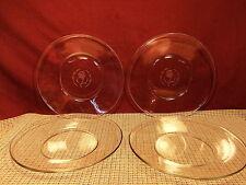 "Avon Crystal Rose Anniversary Set of 4 Luncheon Plates 8"""