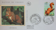 ENVELOPPE PREMIER JOUR - 9 x 16,5 cm - ANNEE 2001 - L'ECUREUIL