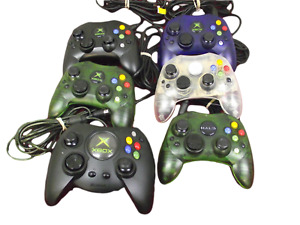 Genuine Microsoft Xbox Original Controller Gamepad Halo Crystal Dropdown Box