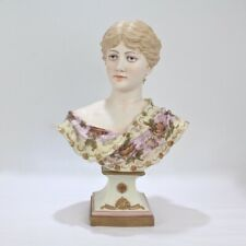 Large Antique Rudolstadt Bisque Bust of a Lady - Beauty Victorian PG