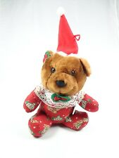 Toy & Novelty brown soft teddy bear red santa hat baby outfit lace neckline new