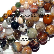 OCEAN JASPER COLOR MIX BEADS 6MM ROUND BEAD STRAND S112