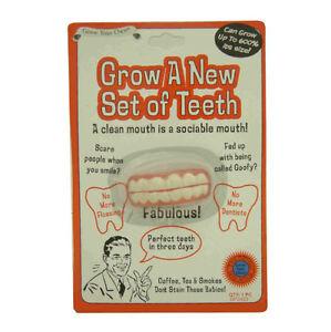 Grow A New Set Of Teeth Fun Funny Novelty Joke Prank Party Secret Santa Gift