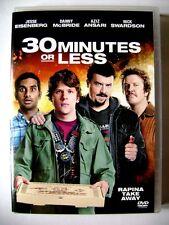 Dvd 30 Minutes or Less con Jesse Eisenberg 2011 Usato