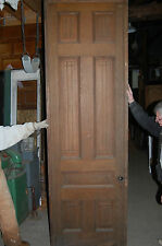 Antique Eight Panel Oak Pocket Door Vintage Home Decor Architectural Salvage