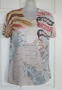 JUST CAVALLI (Roberto Cavalli) Size M T-Shirt Top