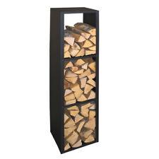Kaminholzregal Brennstoffregal Holzaufbewahrung Metall schwarz beschichtet