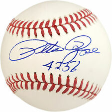 "PETE ROSE AUTOGRAPHED SIGNED MLB BASEBALL CINCINNATI REDS ""4256"" BECKETT 159243"