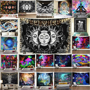 Bohemian Tapestry Wall Hanging Bedspread Trippy Psychedelic Room Home Decoration