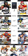 NCAA 2003 - 2011 Football Real Rosters File PS2 Memory Card Madden Draft Classes