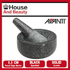 Avanti Black Speckled Mini Mortar and Pestle Solid Granite 10cm