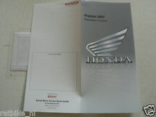 H426 HONDA  BROCHURE PRICELIST 2007 BIKES AND SCOOTERS DUTCH 2 PAGES