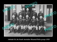 OLD 8x6 HISTORIC PHOTO OF ADELAIDE THE SOUTH AUSTRALIAN MOUNTED POLICE 1920