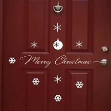 Christmas Door Sign, snowflake Wall Decal, Xmas Shop Window Vinyl Wall Stickers