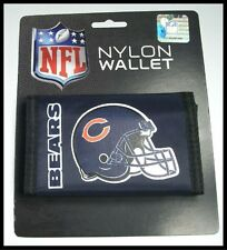 Chicago Bears Team Logo Licensed NFL Football Nylon Trifold Wallet New