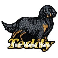 Gordon Setter Dog Custom Iron-on Patch With Name Personalized Free