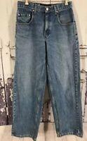 "Vintage Levis Silver Tab Baggy  Fit Jeans Denim Silver Tab Men 28x 31-32"""