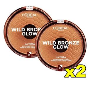 45% OFF RRP  2x LOreal Wild Bronze Glow Face & Body - 01 Portofino FREE AU SHIPP