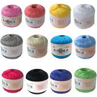 50g Ball Silk Thread Yarn Crochet Hand Knitting Lace Cotton Crochet Trim DIY