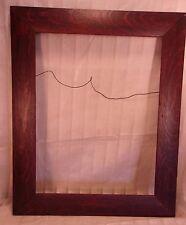 "Antique arts and crafts QUARTER SAWN OAK frame 18 1/2 x 22 1/2 molding 2 1/2"""