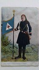 1914 SAMOS AEGEAN GREEK ISLAND GREECE GENDARMERIE WITH FLAG