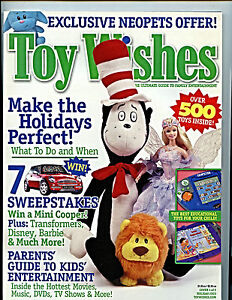 Toy Wishes Magazine Issue Holiday 2003  nm+ unread Entertainment Guide H27