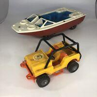 Vintage 1977 Fisher Price Adventure People #312 Northwoods Trailblazer & Boat