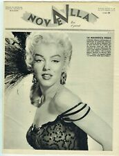 New listing MARILYN MONROE Cover Magazine 1954 Italy Vintage Weekly Issue Sexy Novella