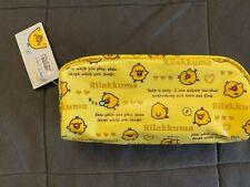 Brand new with tags Rilakkuma kiiroitori cosmetic bag/pouch pencil bag