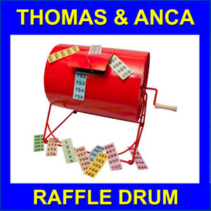 Raffle Drum for tombola fundraising raffle Metal Drum raffle tickets balls discs