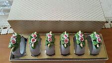 Serviettenringe mit Blumen von Dresden porzellan  neuwertig