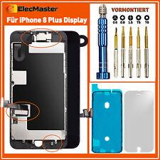 für iPhone 8 Plus Display LCD RETINA 3D TouchVORMONTIERT Komplett Front SCHWARZ