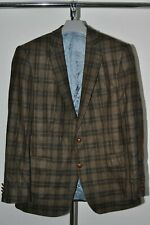 Mens Barbour PURE NEW WOOL  Blazer Jacket Check Brown Size 46