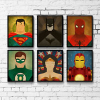 Superhero Anime Characters Canvas Poster Art Painting Modern Home Wall Decor