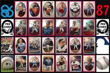 1986 O-Pee-Chee MLB Baseball Sticker Complete Set of 306 Nolan Ryan Cal Ripken