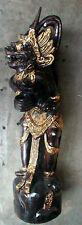 "HANAMAN Hanuman handmade wood statue from Indonesia 39"" high BLACK GOLD Style"