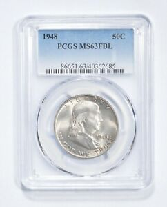 MS63 FBL 1948 Franklin Half Dollar - Graded PCGS *514