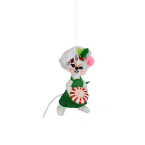 Annalee Dolls 2021 Christmas 3in Peppermint Chef Mouse Plush Ornament New Box