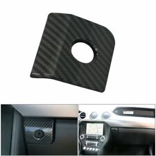 Carbon Black ABS Storage Box Switch Button Cover Trim For Ford Mustang 2015-2019
