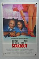 1987 Stakeout Original 1SH Movie Poster 27 x 41 Richard Dreyfuss, Emilio Estevez