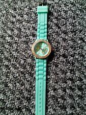 Unisex Geneva Silicone Jelly Gel Quartz Analog Sports Watch Mint Green