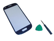 Azul Front Outer vidrio lens (not LCD + Touch Screen) para Samsung Galaxy s3 Mini
