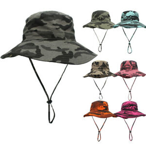 Tactical Camouflage Sun Cap Outdoor Summer Boonie Hat for Hiking Camping Fishing